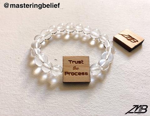 Trust the Process Clear Quartz Beaded Bracelet