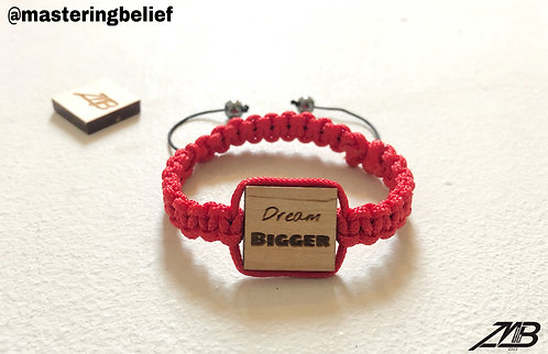 Dream BIGGER Adjustable Affirmation Engraved Bracelets