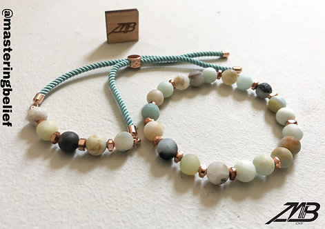Amazonite 2 Piece Bracelet Set