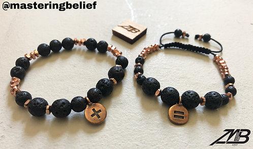 2 Piece Math Symbol Bracelet Set