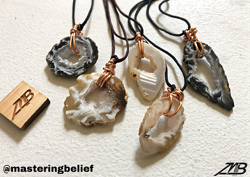 Agate Necklaces (Nylon Chord)