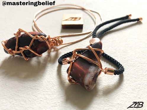Red Tiger Eye Bracelet and Necklace Set