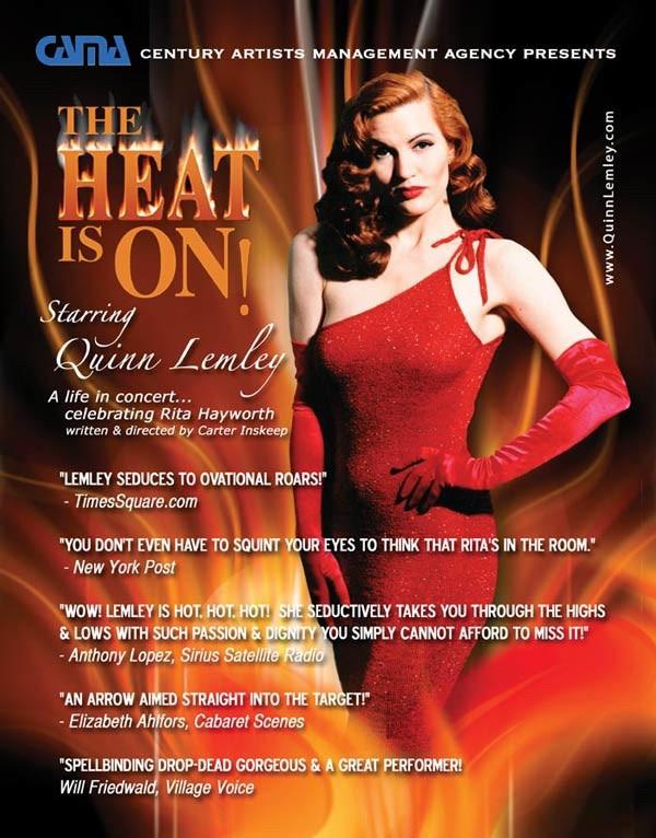 RITA HAYWORTH sizzles this August 24 & 25  at Onesti's Club Arcada Speakeasy Showroom - St C