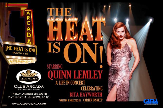 Bombshell Rita Hayworth Explodes at Club Arcada next Thurs & Fri Aug 24 &25