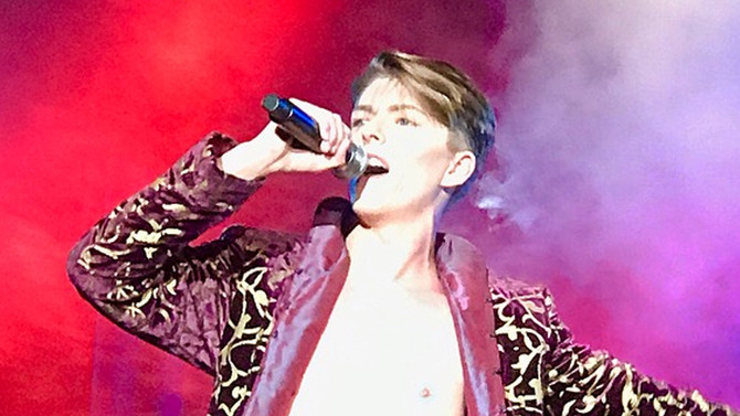 Let's Dance! David Bowie is in the house  with Rebel Rebel at Arcada Theatre, St Charles IL Aug2
