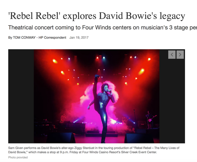Great Article in the Herald Palladium about Rebel Rebel - Next Stop for Rebel Rebel -Patchogue, NY o