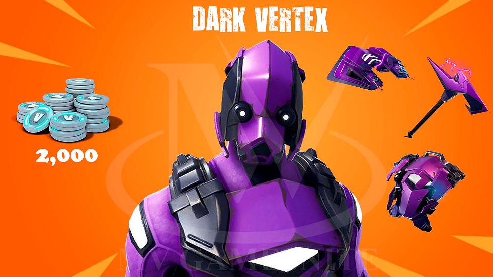 Pacote Dark Vertex + 2000 V-Bucks