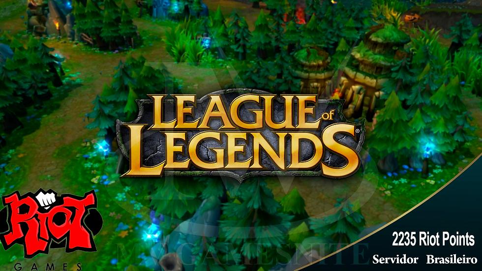 Cartão League of Legends 2235 Riot Points