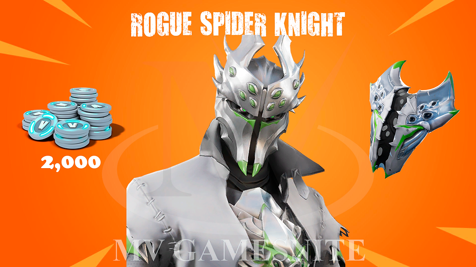 Pacote Rogue Spider Knight + 2000 V-Bucks