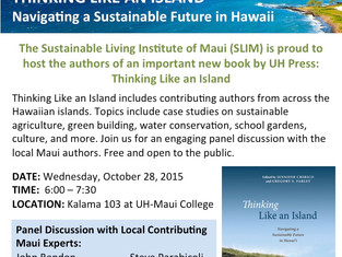 """""""Thinking Like an Island"""" Book Signing Event at University of Hawaiʻi Maui College"""