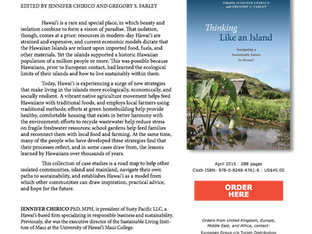 """Thinking Like an Island: Navigating a Sustainable Future in Hawaiʻi"" by Jennifer Chirico"