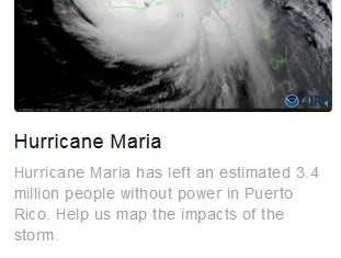 Help with Hurricane Maria by looking at maps in your spare time