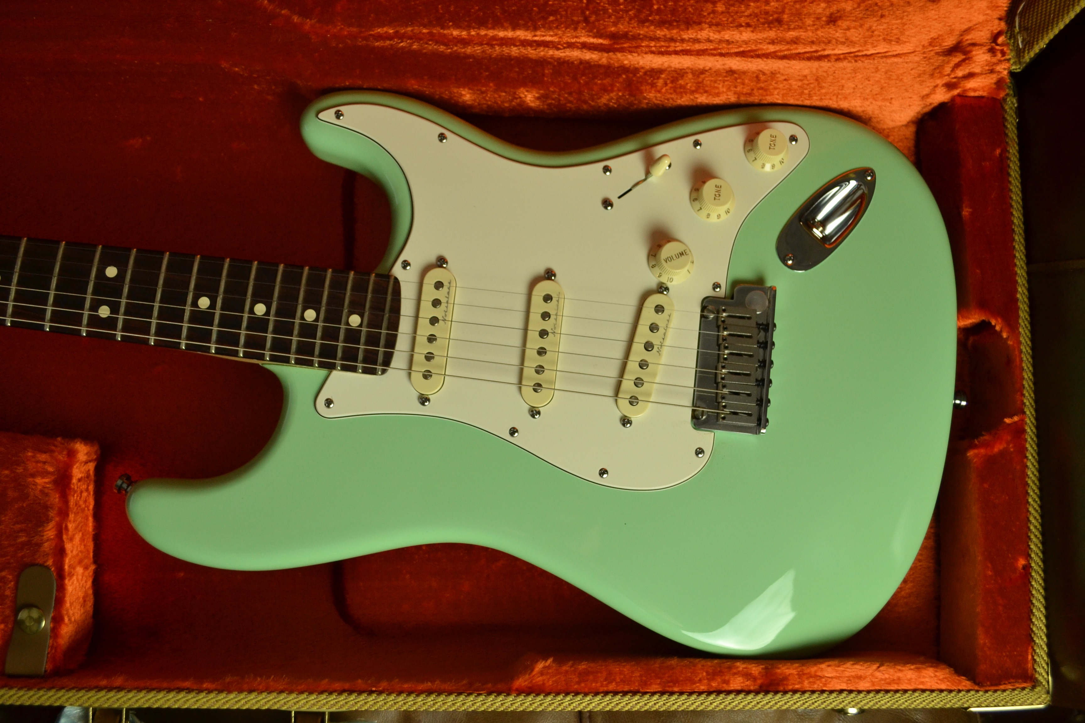 Jeff Beck sea foam green