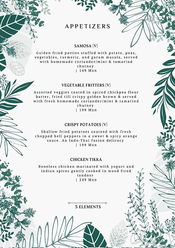 Appetizers - 5 Elements - Mayur Tulum.pn