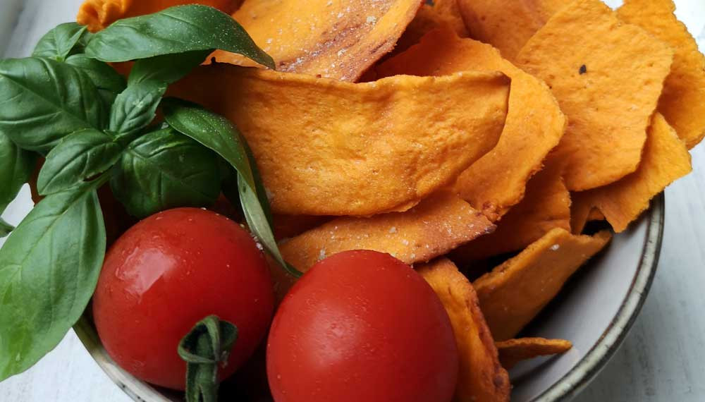 Tomaten-Käse Cracker zum Apero