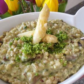 Gersten Risotto mit Mandeln und Gemüse