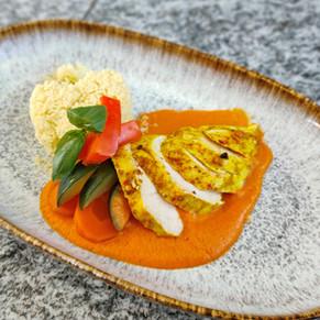 Curry-Zitronen Poulet mit Couscous