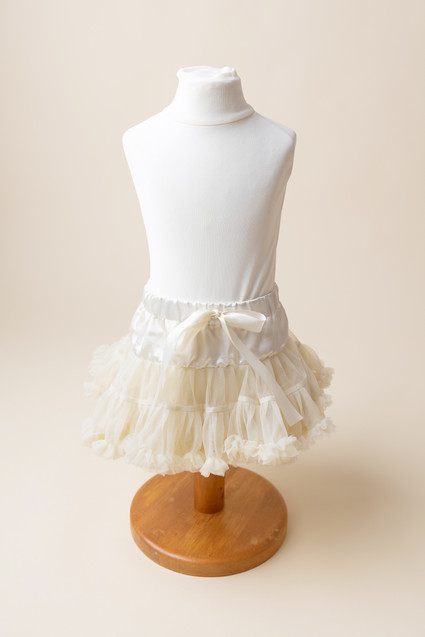 cream frilly tutu for baby girls 1st cake smash photoshoot lancashire