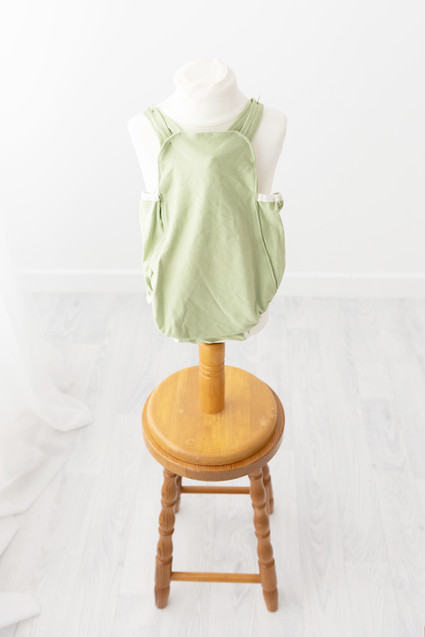 sage gren romper aged 12-18months for photoshoot