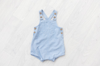 blue romper for sitting babies photos 6-9 month