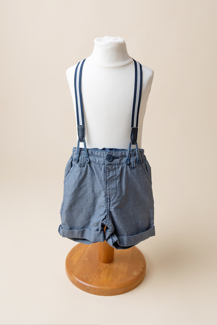 sitter baby shorts with braces 6-9 months
