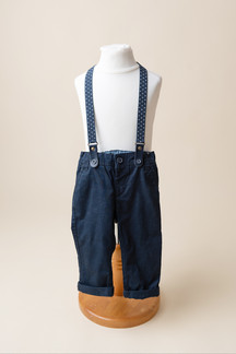 boys pants with braces for 1st birthday photoshoot