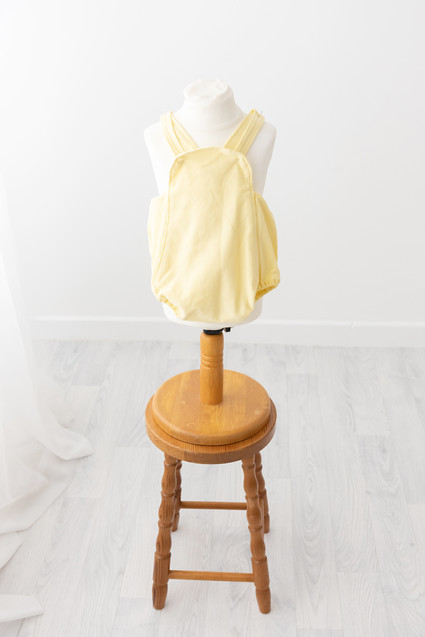 lemon romper for babies cake smash photos aged 1 yr