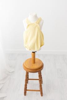 lemon romper for babies cake smash photos aged 1 yr