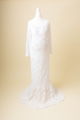 white lace photoshoot dress