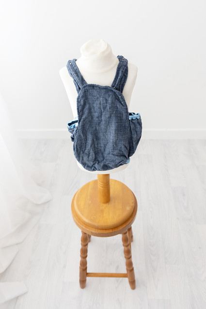 blue cake smash romper
