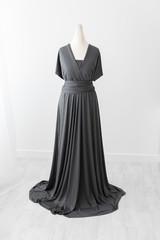 grey mum and me photoshoot dress