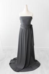 grey maternity dress for photoshoot