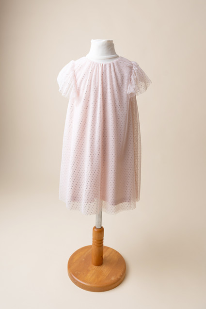 pink dress for toddler photoshoot in lancashire