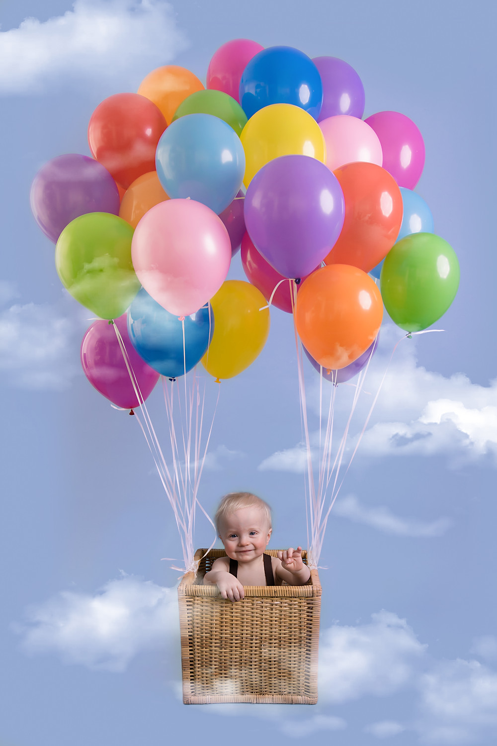 hot air balloon, first birthday photoshoot, barnoldswick, lancashire