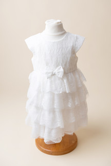 white frilly dress for photoshoot in barnoldswick
