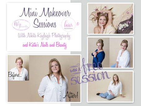 Mini makeover portrait session... studio photographer Colne, Lancashire