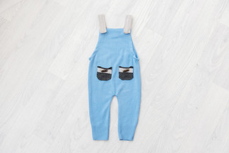 blue baby romper 6-9 months photography