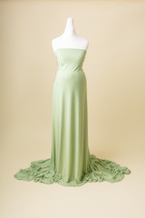 sage ladies photoshoot dress