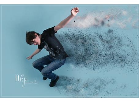 Half Term Fun! Studio Photography Using Sandstorm Photoshop Action. Family Photographer Colne, Lanca
