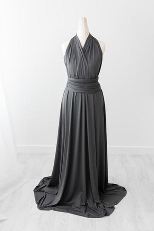 grey pregnancy dress