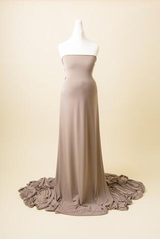 brown ladies photoshoot dress