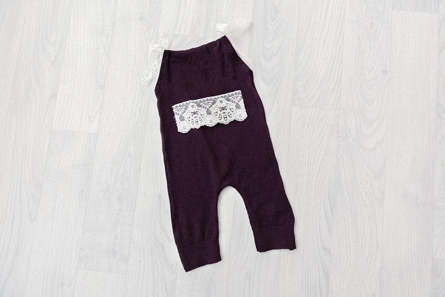 purple sitter outfit for baby photos