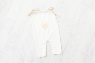 cream baby outfit 6-9 months for sitter session