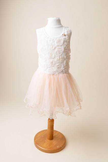 peach dress for phtooshoot lancashire