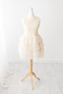 cream frilly dress for girls photoshoot near colne lancashire