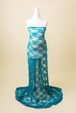teal lace maternity