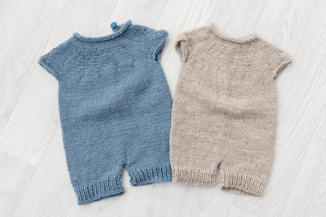 knitted baby rompers for photoshoot