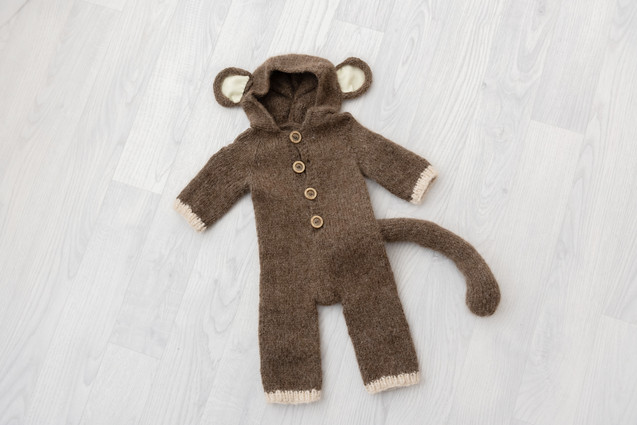 monkey baby outfit 6-9months photoshoot