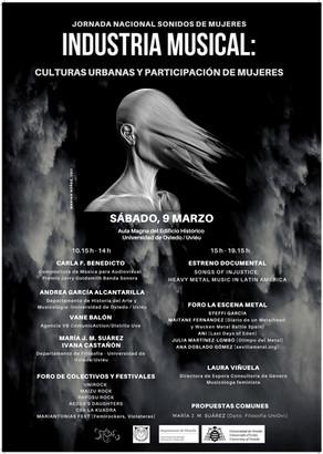 JORNADA NACIONAL SOBRE LA INDUSTRIA MUSICAL, CULTURAS URBANAS Y PARTICIPACIÓN DE MUJERES EN OVIEDO