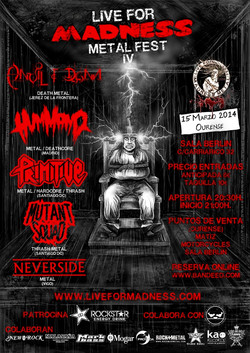 IV LIVE FOR MADNESS METAL FEST